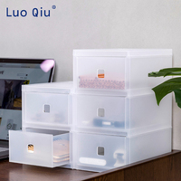 Transparent multi layer desktop finishing box student combination to store office supplies drawer type storage box