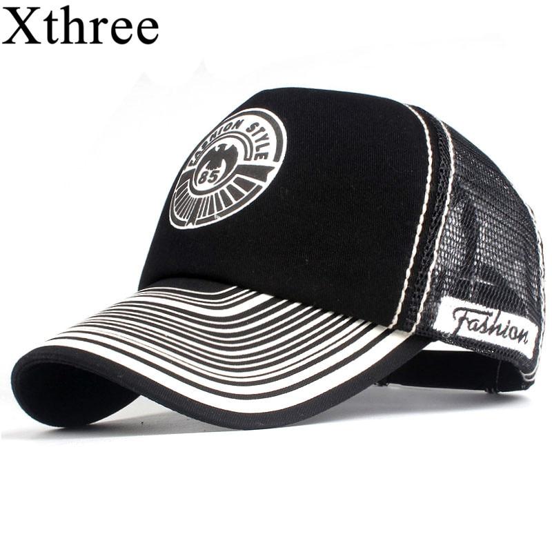 Xthree  Summer Baseball Cap Print Mesh Cap Hats For Men Women Snapback Gorras Hombre hats Casual Hip Hop Caps Dad Hat