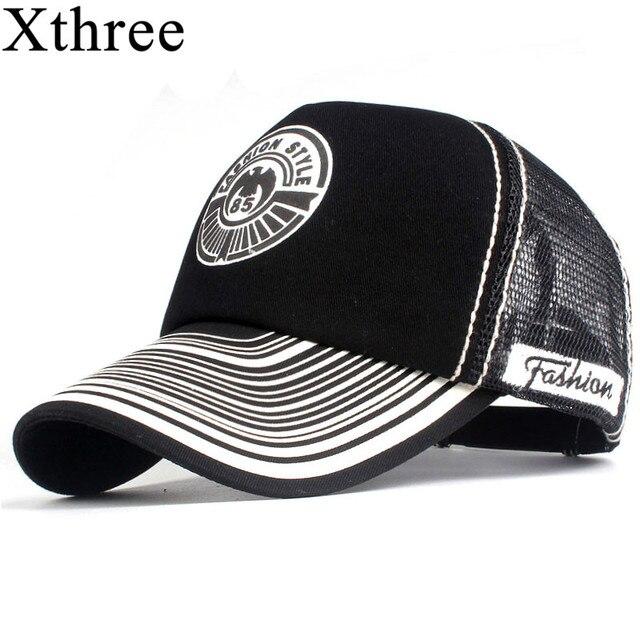 2c3ec9b86e5 Xthree Summer Baseball Cap Print Mesh Cap Hats For Men Women Snapback  Gorras Hombre hats Casual