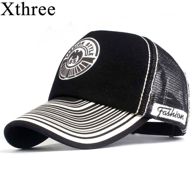 Xthree Summer   Baseball     Cap   Print Mesh   Cap   Hats For Men Women Snapback Gorras Hombre hats Casual Hip Hop   Caps   Dad Hat