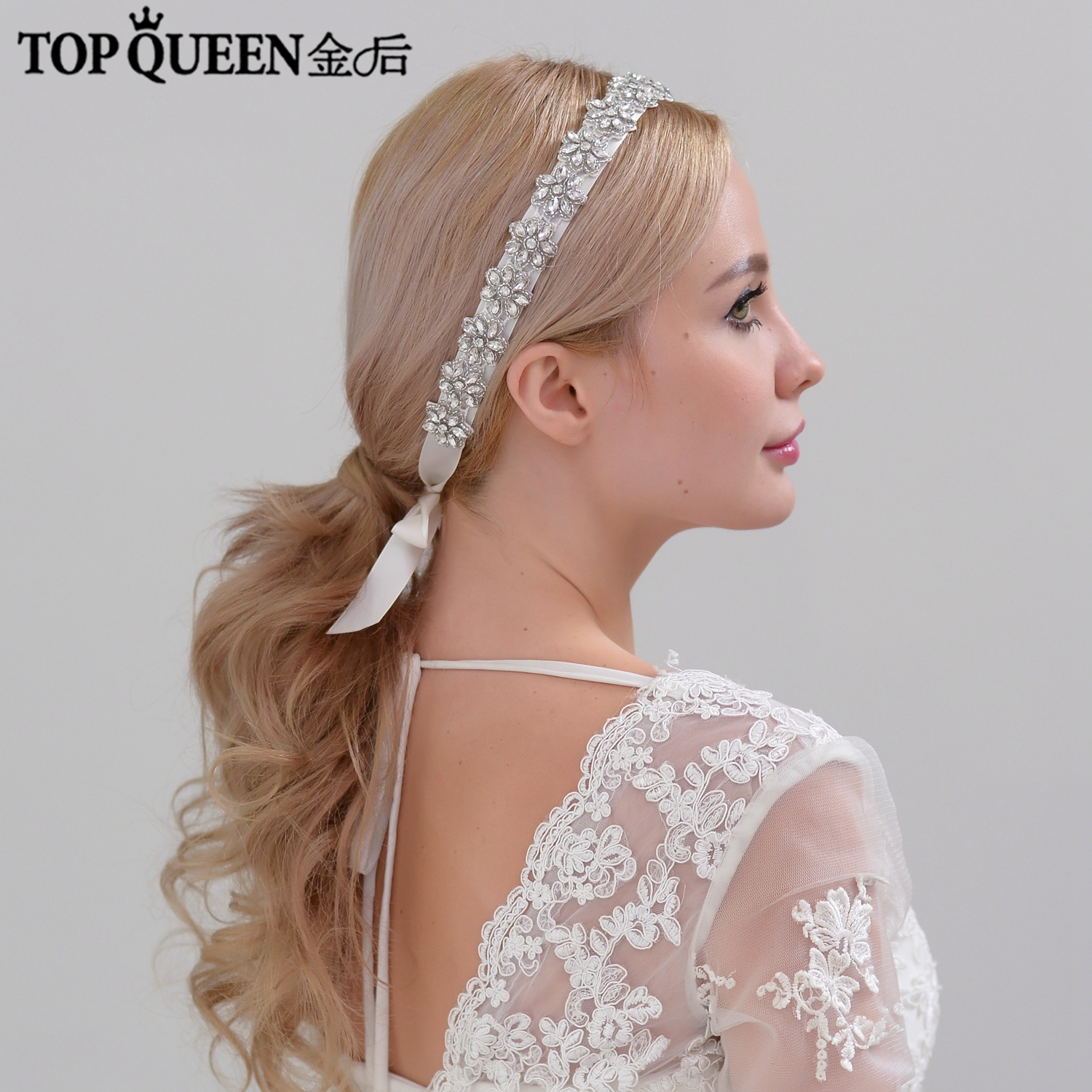 TOPQUEEN H163 Bridal Headbands Bridal Hair Accessories With Pearl  And Crystal Bridal Headpieces Fast Shipping