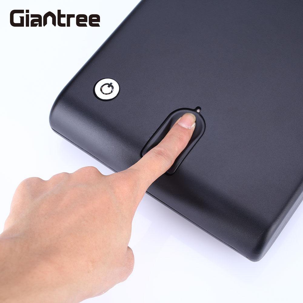giantree Fingerprint Safe Box Portable Car Safe Box Fingerprint Lock Storage Boxes Black Fingerprint recognition
