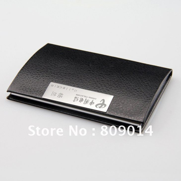 Excellent Engraved Leather Business Card Holder Contemporary