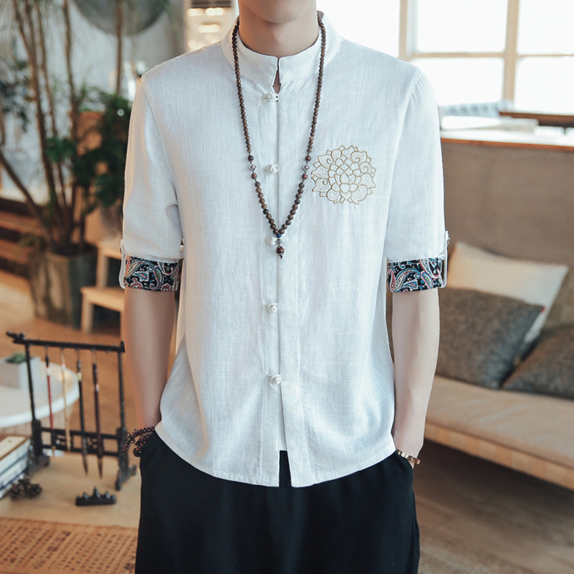2019 summer traditional chinese clothing for men cheongsam chinese traditional wear traditional chinese clothing mens shirts