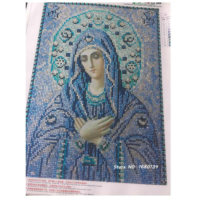 RUBOS DIY Ангел Хранитель православная значки 5D Алмазная вышивка религия Алмазная картина Мозаика Кристалл для религиозных обрядов ремесло новая распродажа