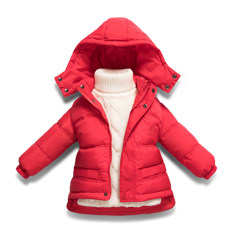 2017 Brand Winter Children's Duck Down Coat Toddler Outerwear&Coats Faur Fur Hooded Warm Girls Down Jackets Baby Kids Clothes цена и фото