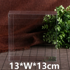 Image 3 - 13*13*Hcm Clear Square Wedding Favor Gift Box PVC Transparent Party Candy Bags Chocolate Boxes Packaging Cake Soap Display Box
