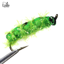 Dry Fly Fishing Flies Set 10pcs Butterfly larvae Flies Lure for Rainbow Trout Bass Fishing Assortment Flyfishing
