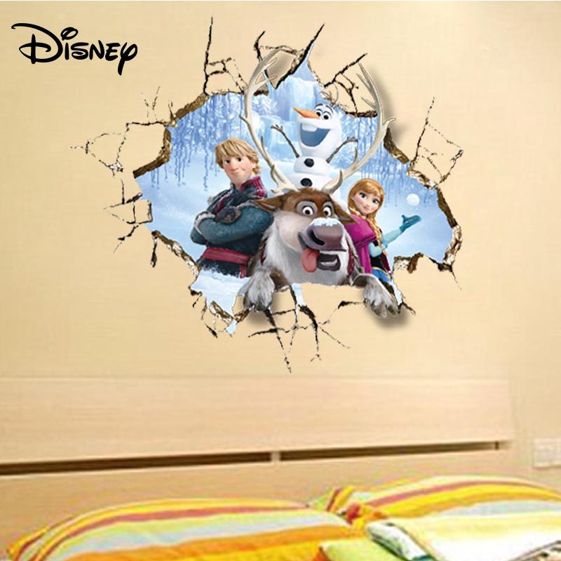 Disney cartoon naklejki anime Mickey Minnie Mouse Disney pokój dziecięcy sypialnia naklejki dekoracyjne tapety samoprzylepne