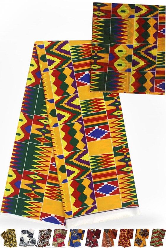 Pure silk fabric 2 4yards dubai lace african silk wax silk chiffon fabric african fabric african