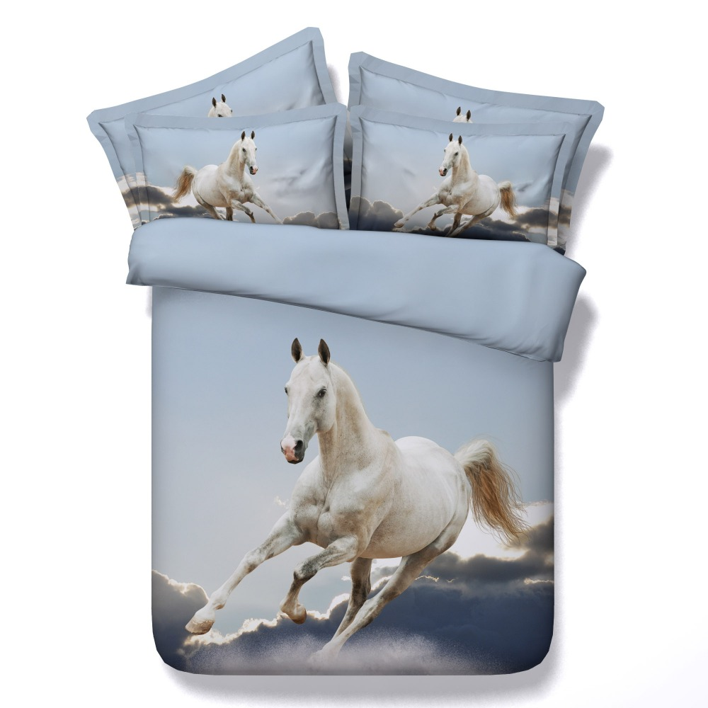 3d print bedspreads bedding sets quilt/duvet covers bedclothes sheet twin full queen king size woven white galloping horses boys3d print bedspreads bedding sets quilt/duvet covers bedclothes sheet twin full queen king size woven white galloping horses boys
