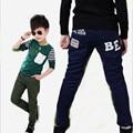 Детей и пиджаки причинно брюки твердые мода брюки для весна осень сезон 2016 новые дети хлопка длинные брюки для 3-15 лет