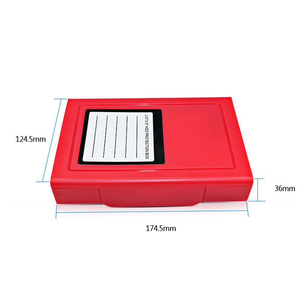 HDD External Anti Static Shock Proof Dust proof 2 5 3 5 Inch Hard Disk Protection Box 9 5MM12 5MM Universal Storage Case in CD Bags Cases from Consumer Electronics