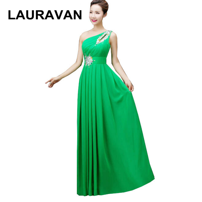 robe de soiree long green blue red lavender one shoulder   bridesmaid     dress   2019 new arrival formal   dresses   gowns made in china