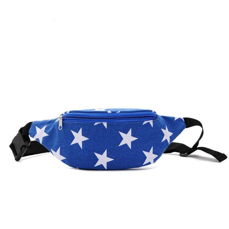 2017 New Design Brand Multifunction Unisex Waist Bag Men's Travel Bags Pack Hiqh Quality Women Shoulder Blue Star Phone Belt