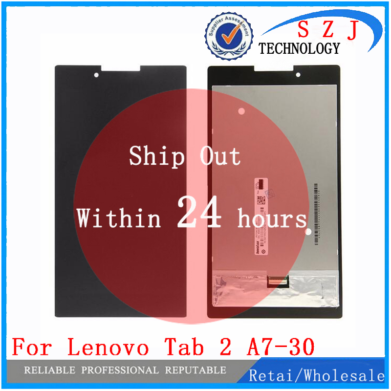 New For Lenovo Tab 2 tab2 A7-30HC A7-30 A7-30DC LCD Display Touch Screen Digitizer Sensors Glass Assembly Tablet Pc Parts for lenovo tab 2 a7 30 a7 30hc 2nd touch screen digitizer glass lcd display monitor assembly free shipping