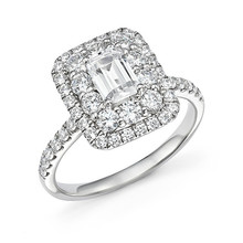 Huitan Fashion Wedding Bands With Micro Paved Trendy Engagement Bridal Ring For Women Brilliant Crystal Factory Direct Sale