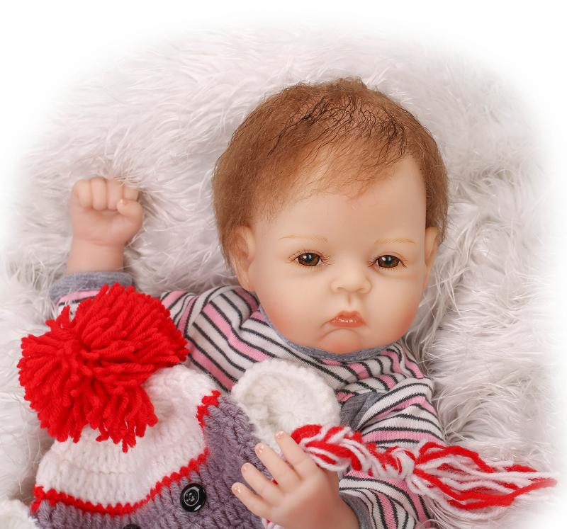 2018 new arrival cute doll toy for children 50cm silicone reborn baby dolls toys for girl 20inch babies born doll free shipping
