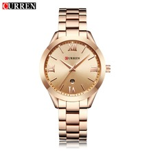 купить CURREN Gold Watch Women Watches Ladies 9007 Steel Women's Bracelet Watches Female Clock Relogio Feminino Montre Femme дешево