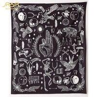 ROMORUS OK Eagle Bear Skull Printed Wall Hanging Tapestry New Design Black Tapestry Fashion Boho Wall Tapestries Table Cloth