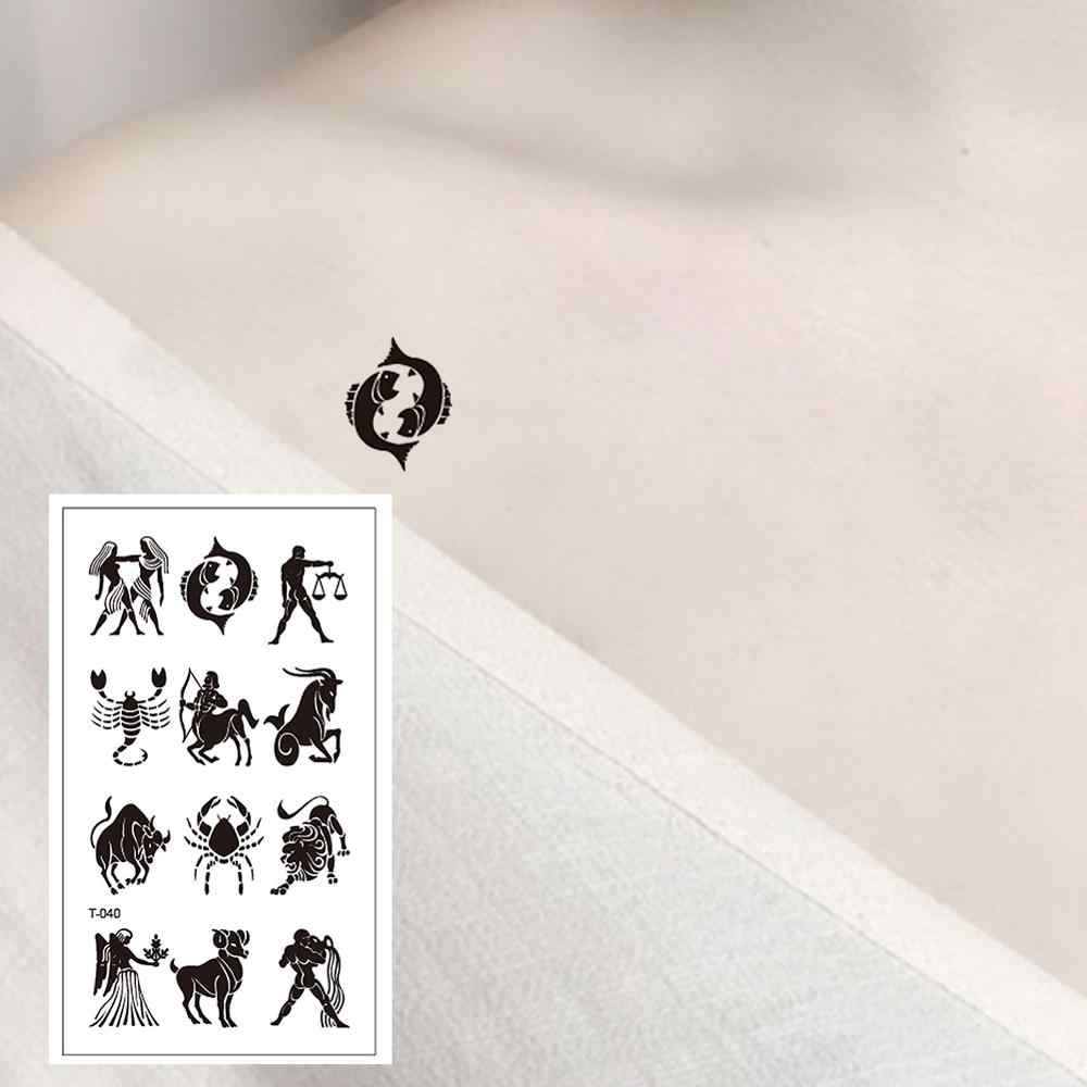 T-040 Waterproof Creative Black Tattoo Sticker Women Body Art Temporary Tattoo Men  Long Lasting Kids Tatoo