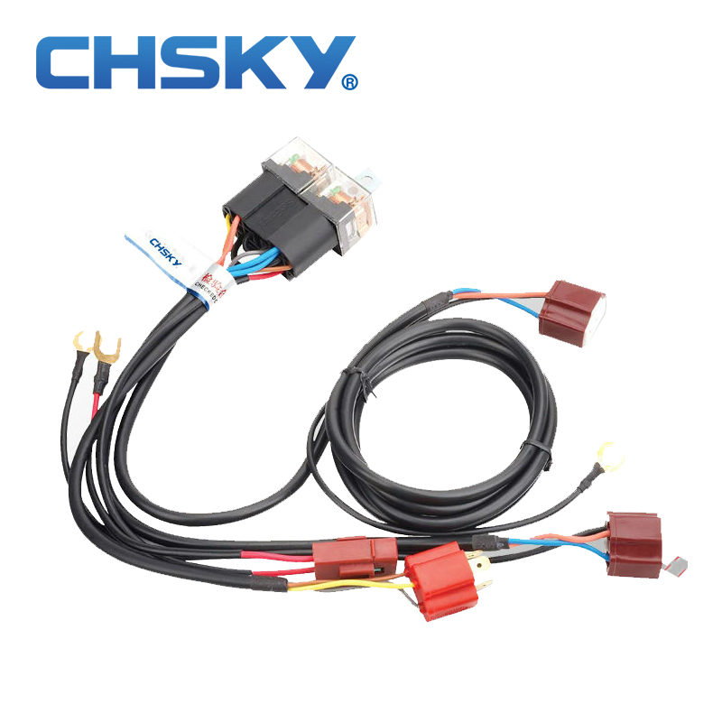 CHSKY Patent product hot sale waterproof 12V font b 2 b font light H4 headlight font online get cheap wiring harness with 2 relays aliexpress com cheap wiring harness at webbmarketing.co