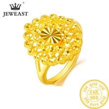 YLJC 24K PURE GOLD แหวนจริง AU 999 Solid Gold แหวน Elegant SHINY Beautiful Upscale อินเทรนด์คลาสสิกร้อนขายใหม่ 2020