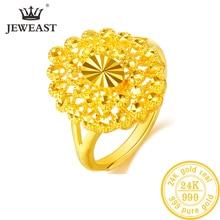 Yljc 24 k puro ouro anel real au 999 sólido anéis de ouro elegante brilhante bonito luxo na moda clássico jóias venda quente novo 2020