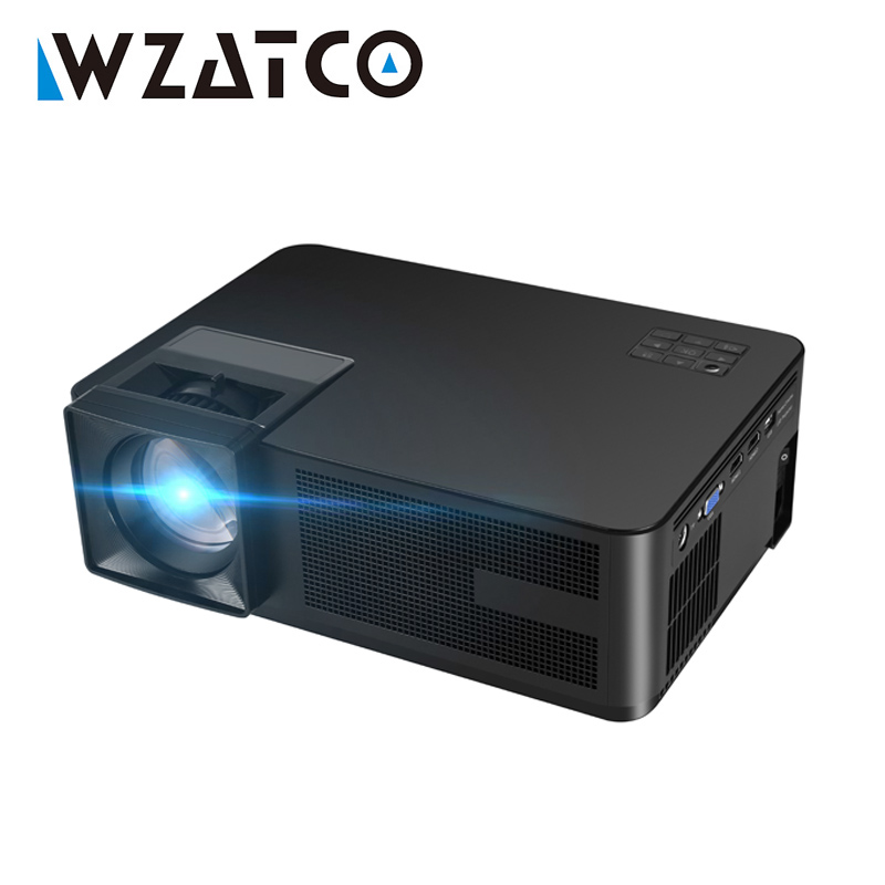 WZATCO New CT01 3500Lumens Multimedia HD HDMI USB TV Projector LED LCD 1080P Home Theater Portable Video Game Proyector Beamer new h88 lcd led video micro multimedia projector home theater
