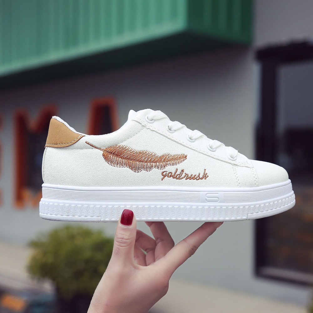 a4d9beed36b POADISFOO-2018-New-Women-s-Fashion-Sneakers-Casual-Shoes-Girls-white-Platfrom-Loafers-Fashion-Lace-up.jpg