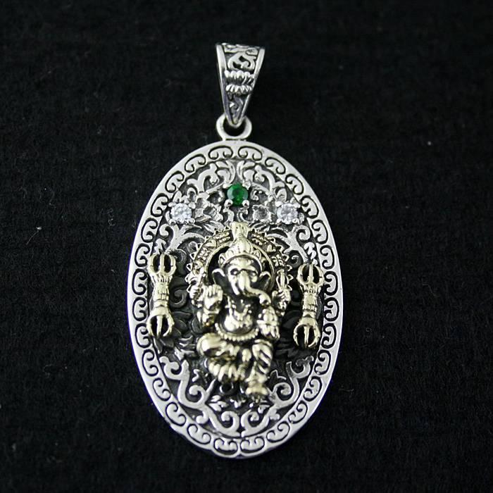 48db1b77eb6c Ov suerte mamografías elefante plata Thai tallado colgante de 925 colgantes  de plata pura
