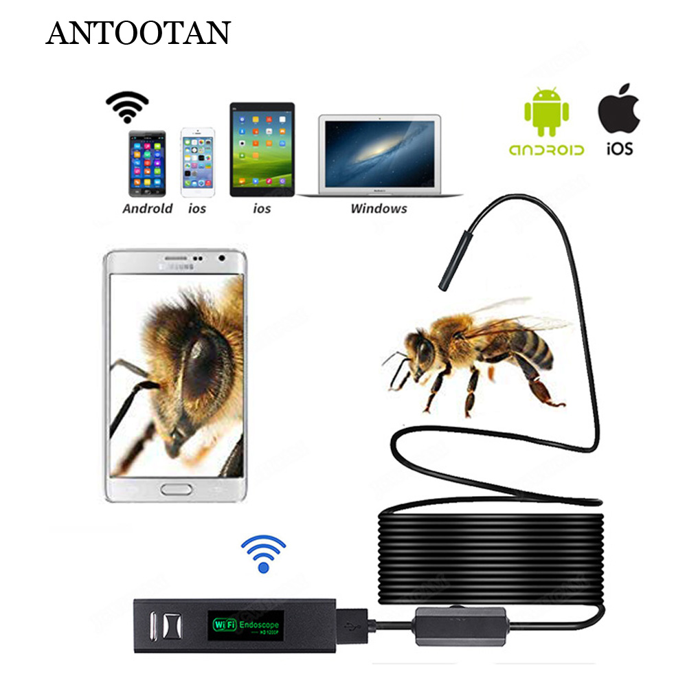 WIFI Endoscope Camera HD 1200P 1 10M Soft Wire IP68 Waterproof Snake Tube Inspection Android ios Wireless Borescope Camera|Borescopes| |  - title=