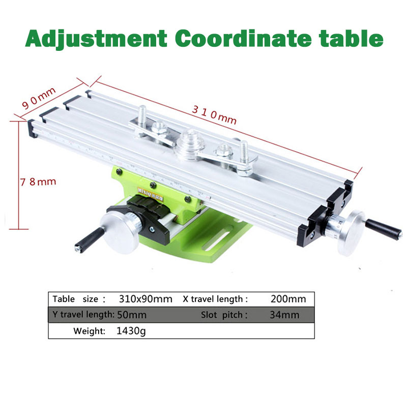 ФОТО Miniature precision multifunction Milling Machine Bench drill Vise Fixture worktable X Y-axis adjustment Coordinate table