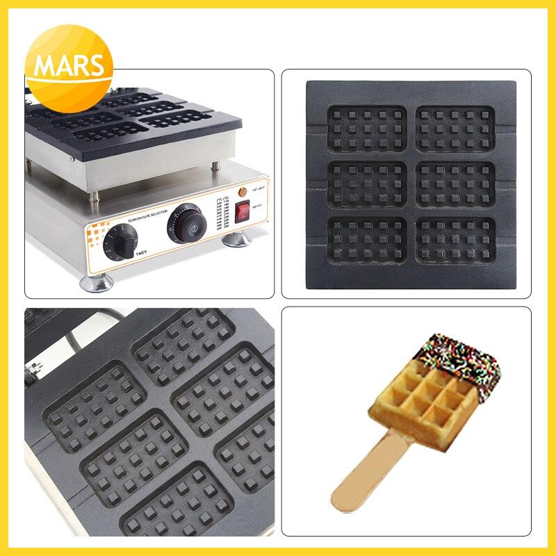MARS Industrielle 6 stücke Waffel Auf einem Stick Maker Eisen Maschine Baker Nicht stick Belgien Wafle Maker Mit CE-in Waffeleisen aus Haushaltsgeräte bei  Gruppe 1