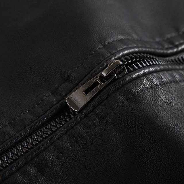 Men's leather jacket motorcycle clothing