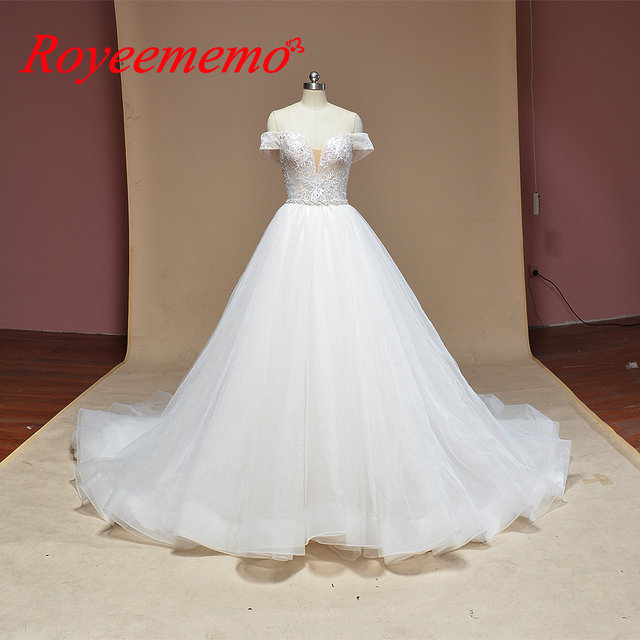 2019 new design Wedding Dress A line skirt Bridal gown custom made wedding gown factory directly wholesale price bridal dress