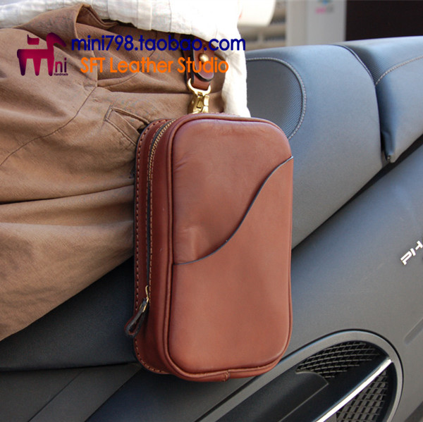 Hand made leather purse DIY pattern chest pack version BXK-51 chest pocket drawing paper ...