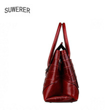 SUWERER Genuine Leather women bags for women 2018 new fashion luxury handbags women bags designer women leather handbags