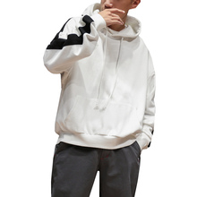 Men Large Size Bat Long Sleeve Hooded Pullover Sweatshirt Autumn Spring Youth Male Fashion Casual Loose Hoodie Coat Outerwear