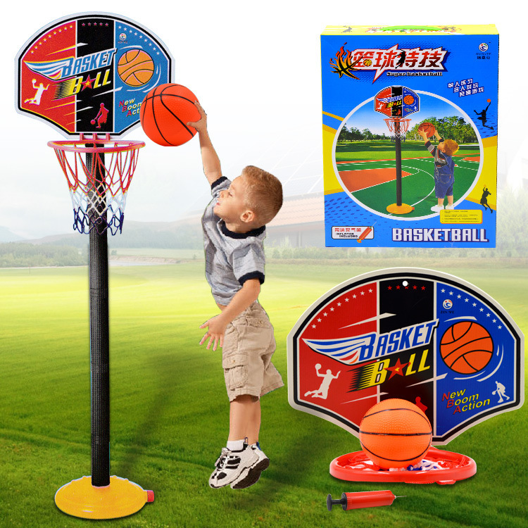 Junior hoops suit 115 cm high, Indoor/outdoor sports educational movement, Fitness basketball toys, Gifts for children.