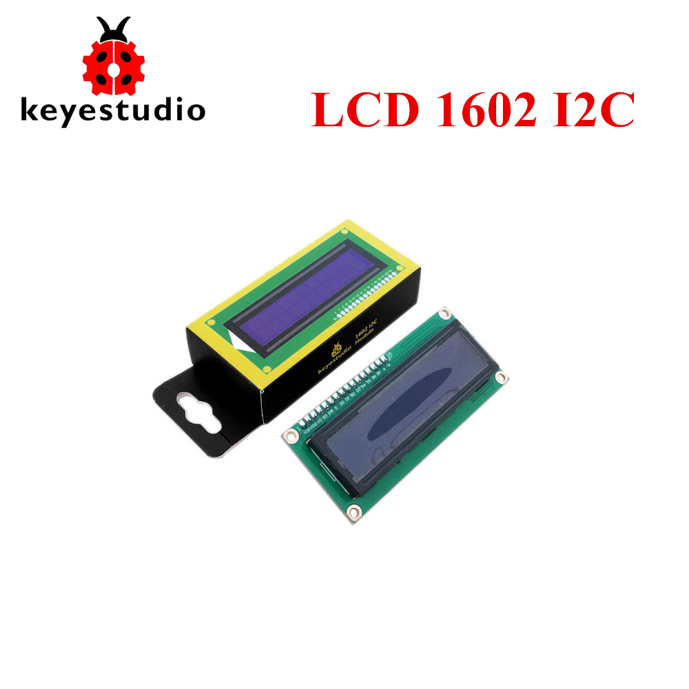 Free shipping !Keyestudio 16X2 1602 I2C/TWI LCD Display Module Blue Backlight for Arduino UNO R3 MEGA 2560|Demo Board Accessories| |  - title=