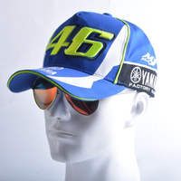 2017 Blue Rossi VR46 Baseball Cap MOTO GP YMH Motorcycle 3D Embroidered Racing Hat Men Women