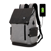 Laptop Backpack Anti Theft Backpack With USB Charging Men School Notebook Bag Oxford Waterproof Travel Solid