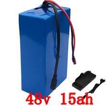48 В в 15AH аккумулятор 48 В в 15AH 1000 Вт Электрический велосипед батарея В 48 В литий-ионный аккумулятор 30A BMS и 2A зарядное устройство Бесплатная таможенная Бесплатная