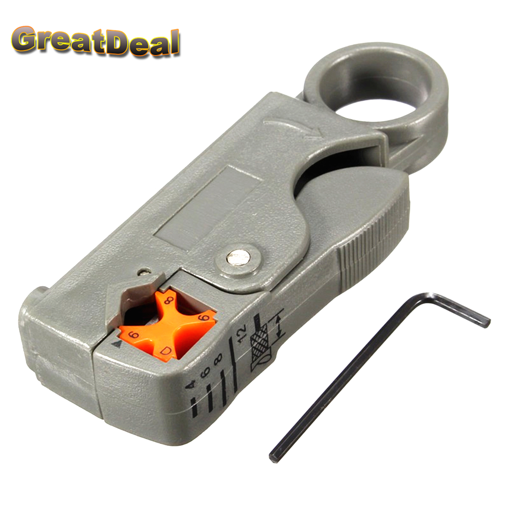 Networking Tools Rotary Coaxial Cable Wire Stripping Stripper Cutter Stripper for RG-58/59/62/6/6QS/3C/4C/5C Cable HY1502