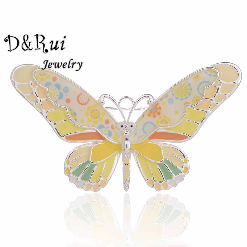 Enamel Bros untuk Wanita Kartun Lucu Hewan Kupu-kupu Bros Aksesoris Klasik Fashion Gadis Bros Pin Wanita Perhiasan