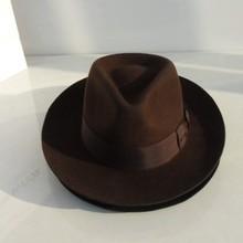 Wool Fedora Hat Derby Fedoras Cap Felt Billycock Hats Winter