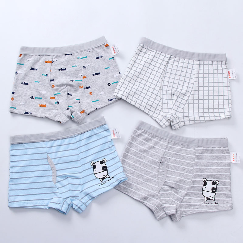 Cartoon Boys Underwear Baby Boy Cute Print Cotton Panties Soft Children Underpants Teenage Briefs Boys Boxer Shorts For 2-12Y