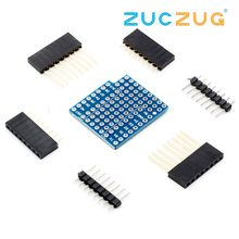 Bouclier de ProtoBoard pour WeMos D1 mini Compatible carte perf double face(China)
