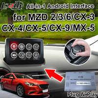 Tout-en-1 Android 6.0 voiture GPS Navigation boîte pour 2014-2018 Mazda 2/3/6/MX-5/CX-5/CX-9 soutien sans fil carpaly, android auto ..